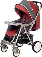 Детская прогулочная коляска Babyhit Sense (Red Grey) -