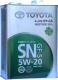 Моторное масло TOYOTA Motor Oil SN GF-5 5W20 / 0888010605 (4л) -