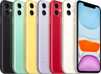 Смартфон Apple iPhone 11 64GB / MWLX2 (фиолетовый)