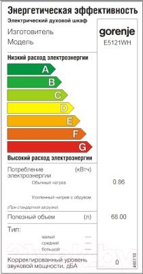 Плита электрическая Gorenje E5121WH