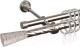 Карниз для штор АС ФОРОС Grace D16K/16Г + наконечники Севилья (1.4м, сатин) -