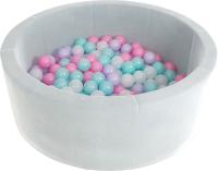 Игровой сухой бассейн Romana Airpool Max ДМФ-МК-02.54.01 (серый, 150 шариков ассорти с розовым) -