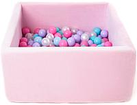 Игровой сухой бассейн Romana Airpool Box ДМФ-МК-02.55.01 (розовый, 150 шариков розовых) -