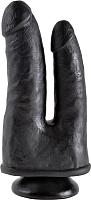 Фаллоимитатор Pipedream Double Penetrator анально-вагинальный / 55829 (черный) -