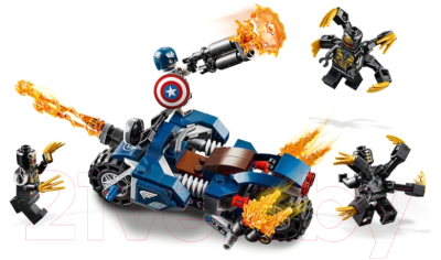 Конструктор Lego Super Heroes Капитан Америка: Атака Аутрайдеров / 76123