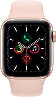 Умные часы Apple Watch Series 5 GPS 40mm / MWV72 (алюминий золото/розовый песок) -