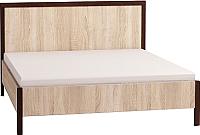 Каркас кровати Глазов Bauhaus 4 120x200 (дуб сонома/орех шоколадный) -