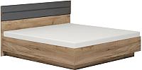 Полуторная кровать Глазов Neo 308 Люкс с ПМ 140x200 (дуб табачный Craft) -