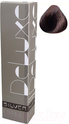 Крем-краска для волос Estel De Luxe Silver 4/76 (шатен коричнево-фиолетовый)