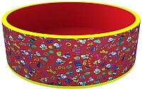 Игровой сухой бассейн Romana Веселая поляна ДМФ-МК-02.51.03 (без шариков, красный) -