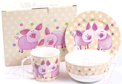 Набор столовой посуды Белбогемия Свинки GD7697B-1 / 85193