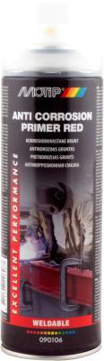 Средство от коррозии MoTip Антикоррозионный грунт / 090106BS (500мл, красный)