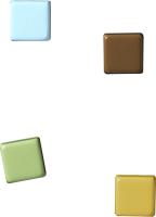 Набор магнитов Naga 20009 (квадрат, цветные, 4шт) -