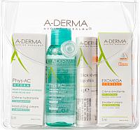 Набор косметики для лица A-Derma Бальзам для губ с экстрактом овса 4г+3 мини-продукта -