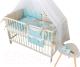 Комплект постельный в кроватку Martoo Mosaik 7 (голубой/бежевый) -