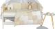 Комплект постельный в кроватку Martoo Mosaik 7 (белый/бежевый) -