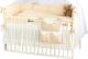 Комплект постельный в кроватку Martoo Comfy 7 (белый/бежевый) -