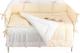 Комплект постельный в кроватку Martoo Basik Comfy 6 (белый/бежевый) -