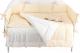 Комплект постельный в кроватку Martoo Basik Comfy 7 (белый/бежевый) -