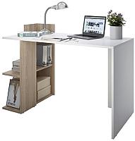 Письменный стол Domus СП017 левый / dms-sp017L-8685-K017 (белый/вяз светлый) -