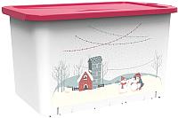 Контейнер для хранения Berossi Christmas ИК 52946000 (роза) -