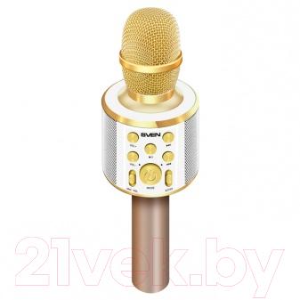 Микрофон Sven MK-950 (белый/золото)