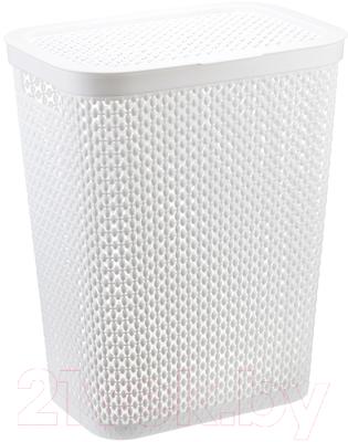 Корзина для белья Idea Пирула / М2614 (35л, белый)
