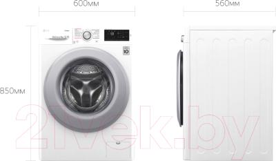 Стиральная машина LG Steam F4M5VS4W