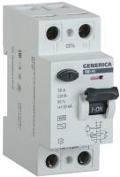 Устройство защитного отключения Generica ВД1-63 2Р 32А 30мА / MDV15-2-032-030 -