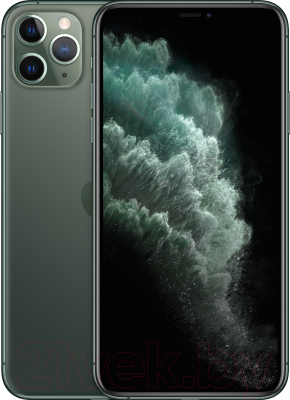 Смартфон Apple iPhone 11 Pro Max 256GB / MWHM2 (темно-зеленый)
