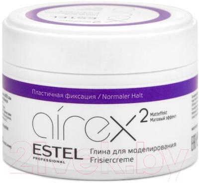Глина для укладки волос Estel Airex с матовым эффектом пластичная фиксация (65мл)