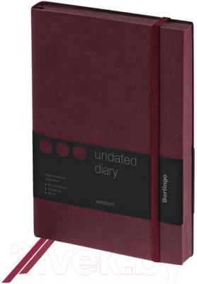 Ежедневник Berlingo Western UD0 85503 (136л, коричневый)