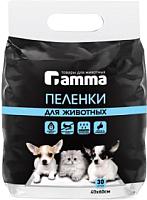 Одноразовая пеленка для животных Gamma 40x60 / 30552003 (30шт) -