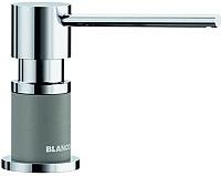 Дозатор встраиваемый в мойку Blanco Lato / 525811 (хром/алюметаллик) -