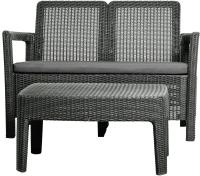 Комплект садовой мебели Keter Tarifa Sofa+Table / 233194 (графит) -