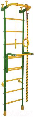 Детский спортивный комплекс Absolute Champion Альпинистик Акробат-2 (салатовый/желтый)
