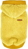 Толстовка для животных Puppia Willa с капюшоном / PATD-TS1756-MS-L (горчичный) -