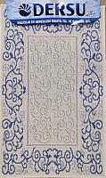 Коврик для ванной Dersu Cotton Bathmats PB001 (50x80, синий) -