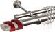 Карниз для штор АС ФОРОС Grace D25Г/16Г + наконечники Вена красный (2.4м, сатин) -