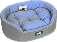 Лежанка для животных Ferplast Dandy 55 / 82942095 (серый/голубой) -