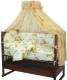 Комплект постельный в кроватку Топотушки Жираф Вилли / 650М/3 (желтый) -