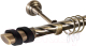 Карниз для штор АС ФОРОС Grace D25К + наконечники Вена черный (2м, антик) -