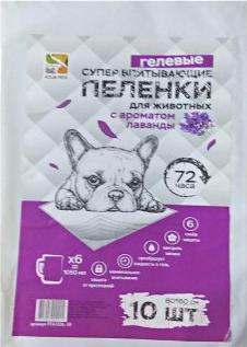 Одноразовая пеленка для животных Four Pets PFA104L-10UP (60x90см, 10шт)