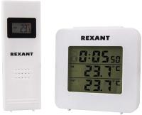 Электронный термометр Rexant 70-0592 (с часами, беспроводной датчик) -