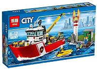 Конструктор Lepin City Пожарный катер / 02057 -