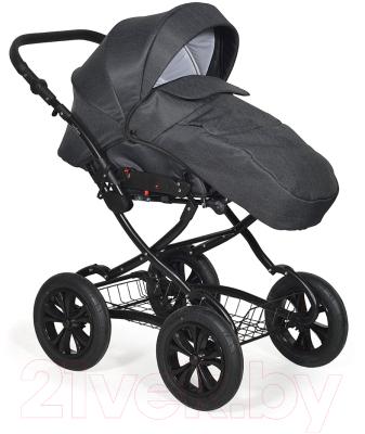 Детская универсальная коляска INDIGO Charlotte 18 Classic 12 (Cr 39, темно-серый)