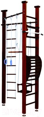 Детский спортивный комплекс Карусель 3Д.01.01 + тренажер для осанки №2 (венге)
