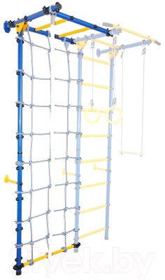 Опция к детскому спортивному комплексу Юный Атлет Рукоход-Лайт с сеткой (синий)