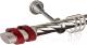 Карниз для штор АС ФОРОС Grace D25К + наконечники Вена красный (2.4м, сатин) -