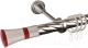 Карниз для штор АС ФОРОС Grace D25К + наконечники Люксор красный (2.4м, сатин) -